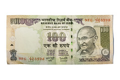 100 Rupees (Curtis Gregory Perry) Tags: india money paper one bill nikon reserve bank cash note pay hundred gandhi 100 promise bearer currency tender legal sum mahatma banknote d300 rupees rupee