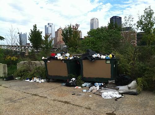 Dumpsters dumped