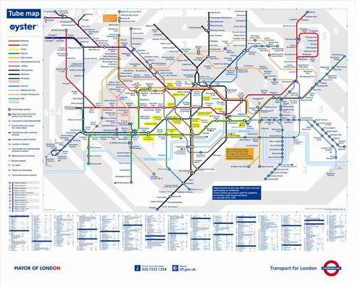 複雜如血管的英國地鐵圖