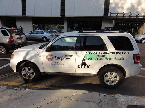 City of Tampa Television van