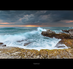 Tempest (itsgottabered) Tags: ocean seascape clouds sunrise canon moss rocks surf waves ngc australia spray queensland sunshinecoast stormyskies ptarkwright 1740lusm hitechfilters 5dmkii