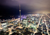 This is Toronto (tomms) Tags: city lake toronto ontario canada up skyline night high downtown cityscape cntower postcard condo skydome birdseyeview core rogerscentre 1000feetup