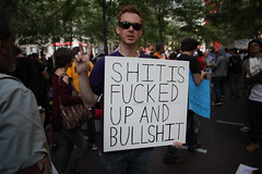 """SHIT IS FUCKED UP AND BULLSHIT"" - Occupy Wall St. - Day 22 (jamie nyc) Tags: nyc newyorkcity gothamist activism humanrights civilrights equalrights socialism classwar anticonsumerism libertysquare nonviolence anticapitalism sitin libertypark protestsigns powertothepeople ows dissentispatriotic sept17th economicdisparity nonviolentprotest zuccottipark incomedisparity the99 thefinancialdistrict stopcorporategreed nonviolentdemonstration photobyjimkiernan peoplenotprofits peacefulresistance bankprotest occupywallstreet occupywallst wallstoccupation getmoneyoutofgovernment wwwoccupywallstorg wearethe99 stopcorporatepersonhood september17th2011 wallstreetoccupation hashtagoccupywallstreet flickroccupywallstreet occupywallstreetphotos flickrwallstreetprotests occupywallstreetflickr wallstreetprotestphotos flickrwallstoccupation shitisfuckedupandbullshit owsprotestsigns occupywallstreetprotestssigns sfuab"