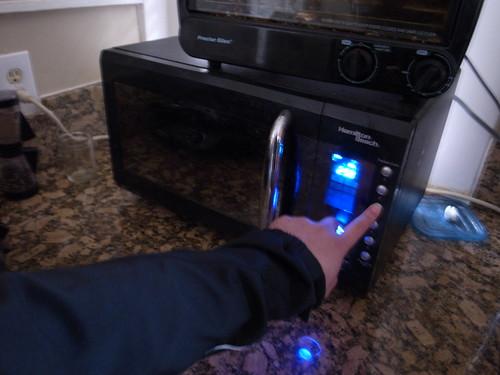 Me Using Microwave