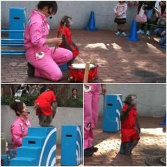 猿楽祭で猿まわし