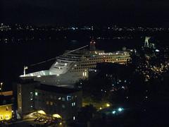 MV Aurora at night (Quevillon) Tags: canada qubec cruiseship quebeccity oldquebec mvaurora