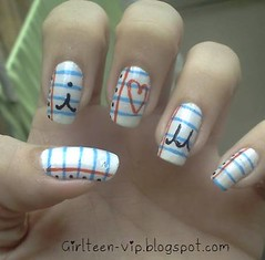 Nail Art - Folha de caderno (NayCaroline28) Tags: art nail fofa unahs decoradas