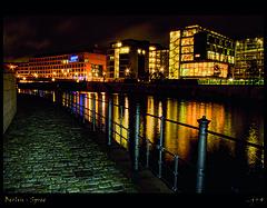 Berlin, Spree (j+4) Tags: berlin night river spree ard longtime hauptstadtstudio