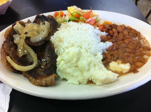 Steak platter: $5.99