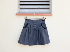 Button Fly Skirt I (TrulaKids) Tags: handmade sewing skirt buttonfly kidsclothes kcwc