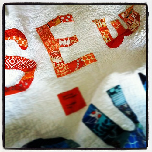 Fresh out of the dryer! @frecklemama the quilting looks AMAZING! #sewingsummit