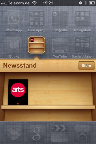 Just bought the first magazine for my iOS 5 Newsstand: @ComputerArts