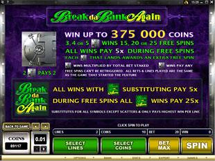 Break da Bank Again Slots Payout
