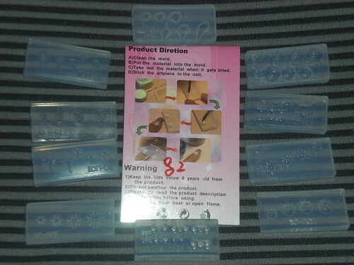 Acrylic nail mold lot from eBay by KitaRei