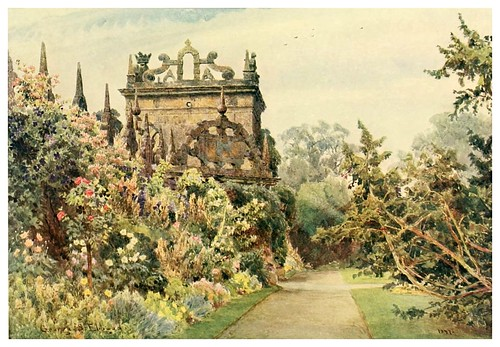 018- El patio en Hardwick-Some English gardens 1904- George S. Elgood