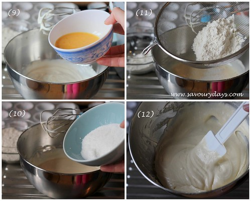 Whipped cream cupcake - method 3