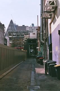 Building site, alley.