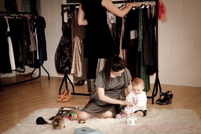 Baby Edward visits 44 Frocks boutique