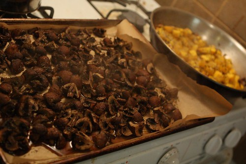 Roasted Mushrooms and Pumpkin