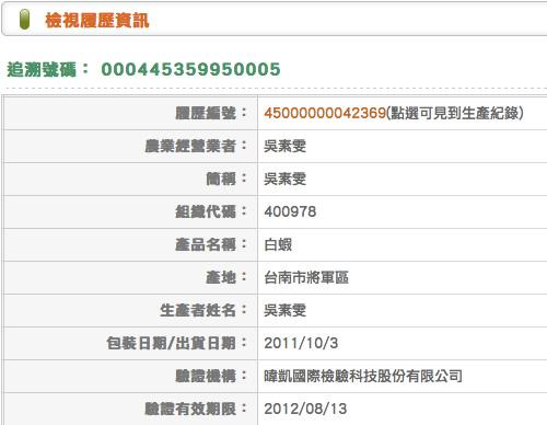 臺灣農產品安全追溯資訊網-Taiwan-Agriculture-And-Food-Traceability-Systemc