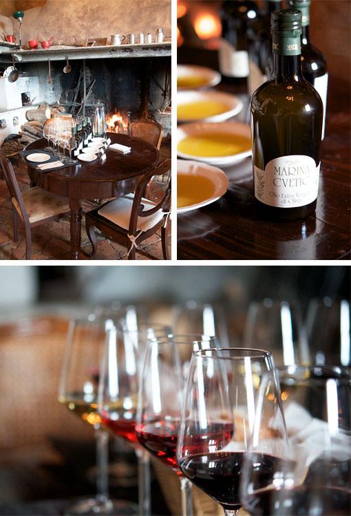 degustazione olio e vino Masciarelli