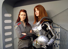 Red Haired Women of Sci-Fi (Matt & Kristy) Tags: starwars costume uniform cosplay convention bountyhunter stargateatlantis armageddonexpo theoldrepublic shaevizla melbourne2011