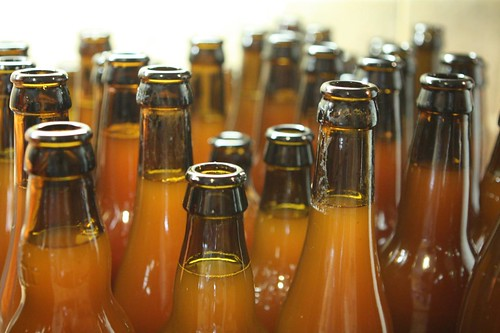 Filled Homebrew Bottles