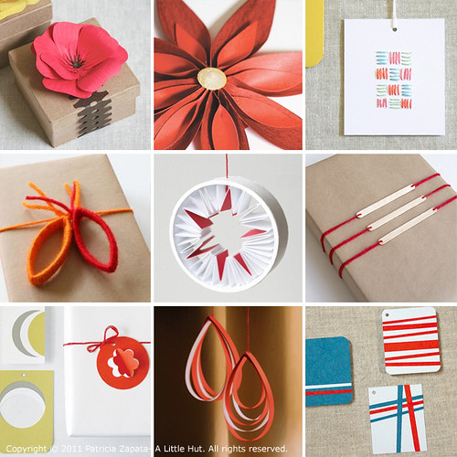 A Little Hut - Patricia Zapata: holiday gift wrapping and decorating ...