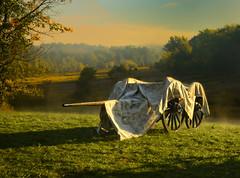 Covered canon and limber (AIA GUY..Rwood) Tags: morning mist bronze canon canvas civilwar tarp limber 6lb
