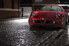 Alfa 8C : Rain (Luke Alexander Gilbertson) Tags: nikon 70200 f28 d700 wwwlukegilbertsoncom lukegilbertsonalfaromeo8cv8maseratisupercarhypercarbeautifulred