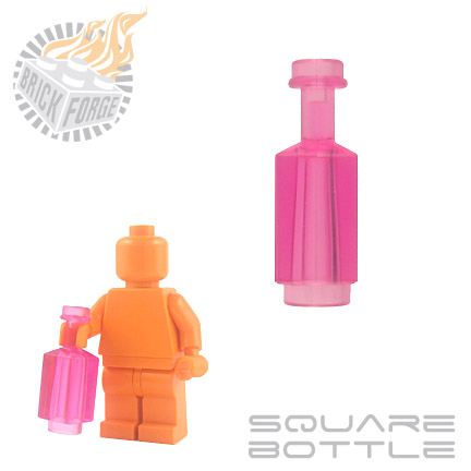 Square Bottle - Trans Pink