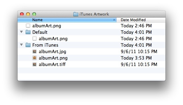 iTunes Artwork folder contents