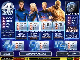 free Fantastic Four slot mini symbol