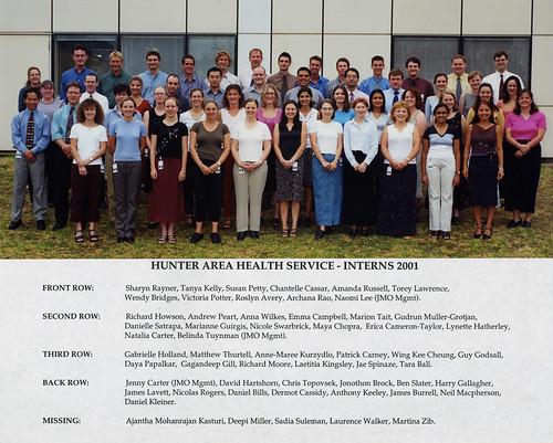Hunter Area Health Service Interns  Royal Newcastle Hospital c 2001