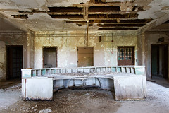Abandoned State Hospital (AeroFennec) Tags: urban abandoned station hospital hall state desk decay exploring center hallway medical nurse asylum nurses psychiatric ue psych
