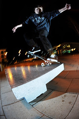 Adam - Nosegrind (Cherryrig) Tags: longexposure winter night bench nikon skateboarding wizard flash trails fisheye skate pocket fx quantum t2 pw sb26 pocketwizard qflash l358 d700 cherryrig 16mmf28afdfisheye