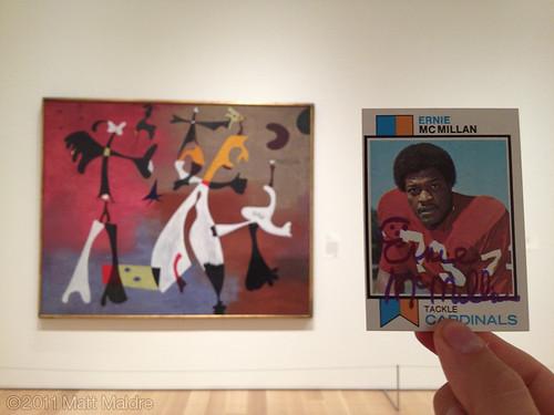 1973 Joan Miro and 1973 Ernie Mc Millan