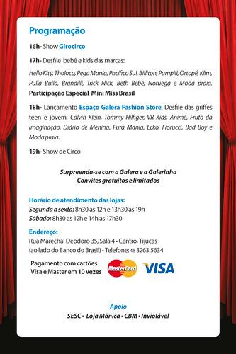 5c95efe57e7 Loja Galerinha lança coleção verão 2012 com desfile - Vipsocial ...