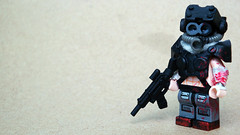 Rebuilding Society: Government Soldier ([N]atsty) Tags: blood mod lego mask helmet gas tape hazel e armor ama minifig society rebuilding minifigure gow brickarms