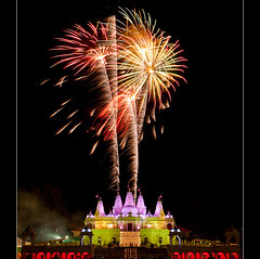 2011 Diwali Fireworks Display at BAPS Shri Swaminarayan Mandir (JLMphoto) Tags: new atlanta light festival georgia temple long exposure candles display fireworks years diwali mandir baps shri lilburn swaminarayan 2011