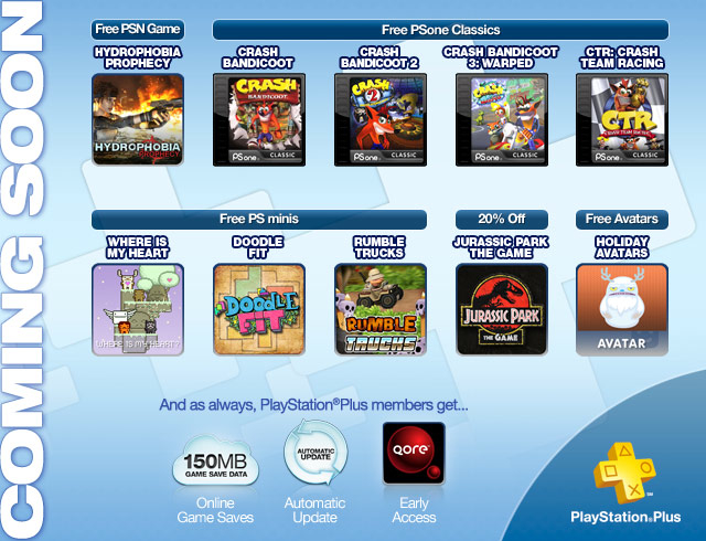 PS Plus - Coming Soon - NEW