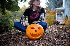 3/52 ~ pumpkins and bollywood (heathre) Tags: fall pumpkins saturday bollywood frontyard week3 3852