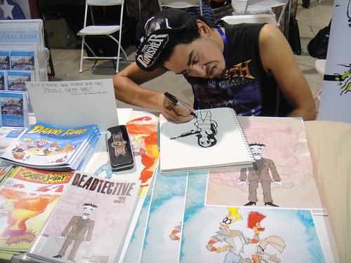 Long Beach Comic & Horror Con 2011 - artist Luis Calderon is angry at art!