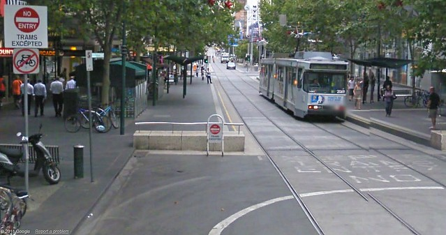 No Entry - Trams excepted