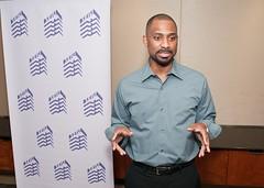 SEIU staff member Khalid Pitts