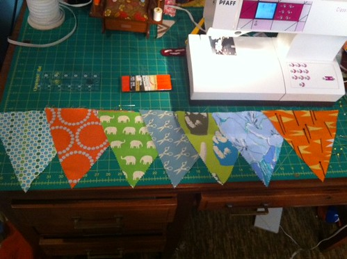 Everett's birthday banner (in progress)