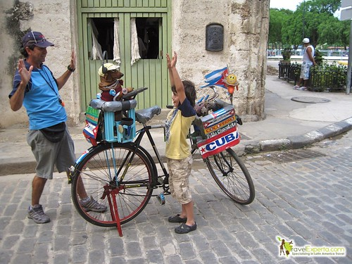 Street Performer with a Dog - Havana Vieja - Cuba