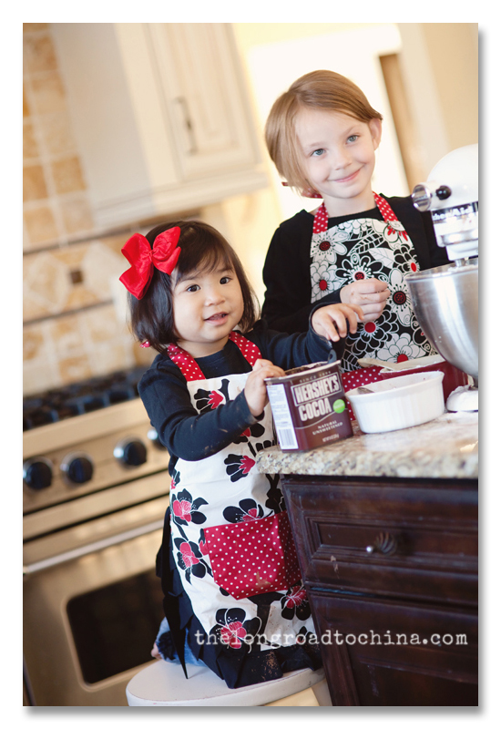 All Smiles in their red aprons BLOG