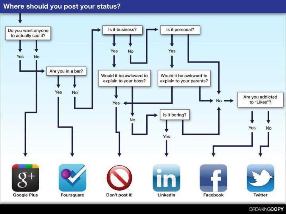 Os posts nas Redes Sociais