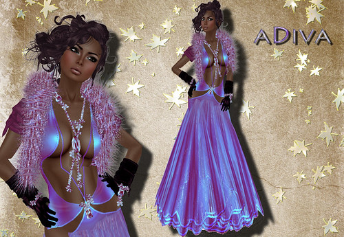 aDiva couture Contes Gown Quartz